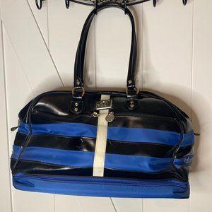 Lululemon large Blue Black striped gym bag vintage